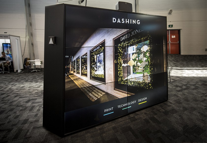 A photo of the Dashing Digital Exhibition Stand Dashing designed and executed at the POPAI Summit in 2016